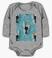 Toucans Pattern Design One Piece - Long Sleeve