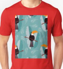 Toucans Pattern Design Unisex T-Shirt