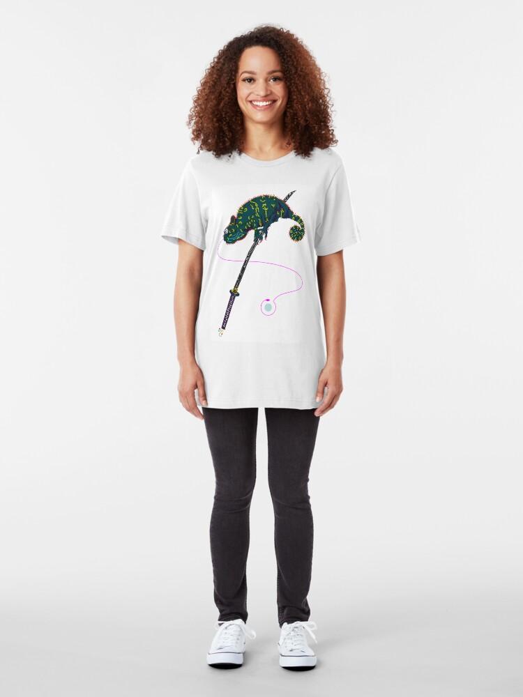 Alternate view of Samurai Chameleon Slim Fit T-Shirt