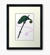 Samurai Chameleon Gerahmtes Wandbild