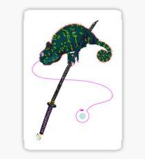 Samurai Chameleon Sticker