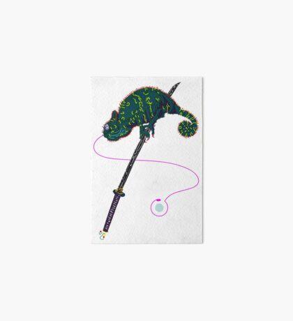 Samurai Chameleon Art Board Print