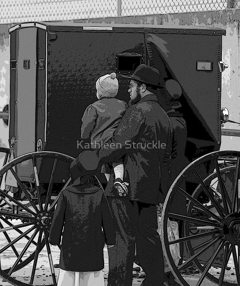 Amish Family by Kathleen Struckle