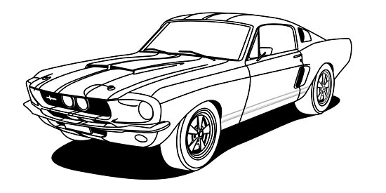 u0026quot old school mustang outlines u0026quot  posters by megalawlz