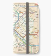 Paris Subway Map iPhone Wallet/Case/Skin