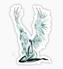 """I Am The Angel From Above"" Sticker"