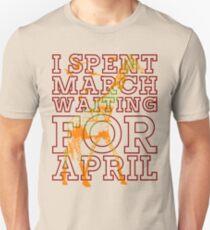 Giraffe I Spent March Waiting For April Unisex T-Shirt