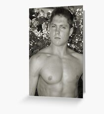 Fitness Male Model - A125 Greeting Card