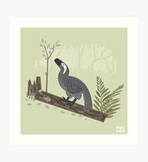 Utahraptor in the Forest Art Print