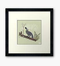 Utahraptor in the Forest Framed Print