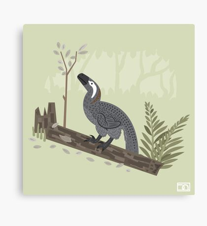 Utahraptor in the Forest Canvas Print