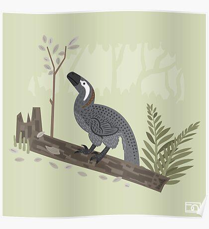 Utahraptor in the Forest Poster