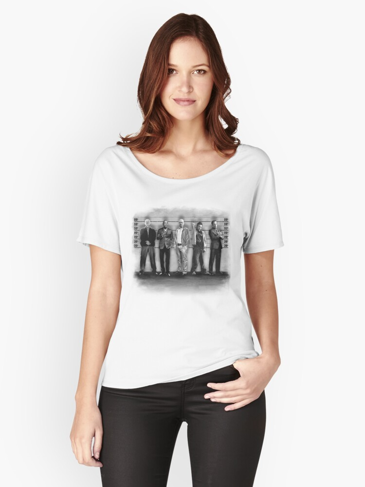 3ccddf1e4 Breaking Bad  The Usual Suspects (BW) Women s Relaxed Fit T-Shirt Front
