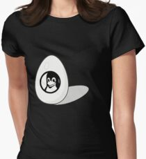 LINUX TUX EGG BRAND  Womens Fitted T-Shirt
