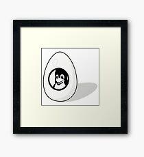 LINUX TUX EGG BRAND  Framed Print