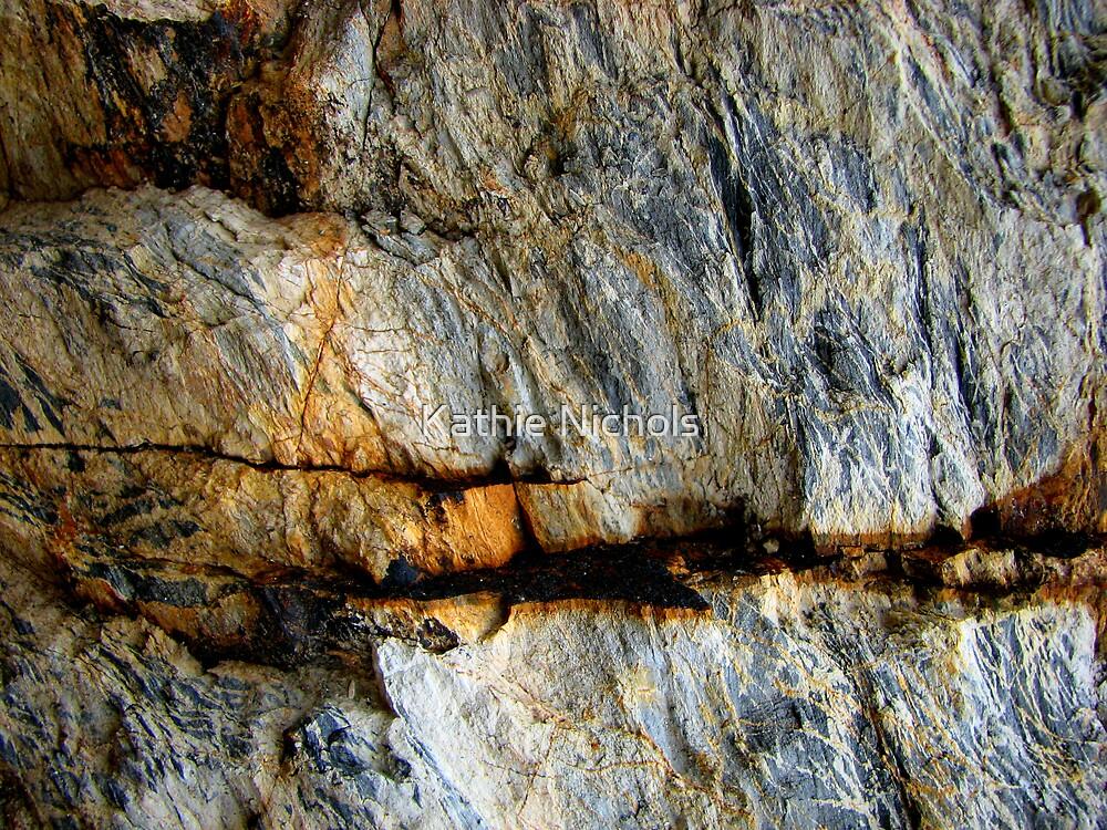 Rock Fractures 2 by Kathie Nichols