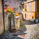 Italian alley with fountain by Silvia Ganora