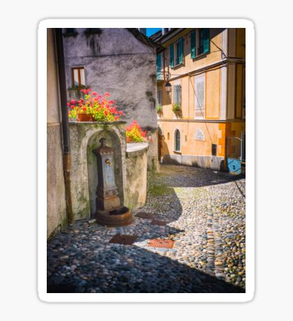Italian alley with fountain Sticker
