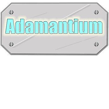 Adamantium, Logan - Wolverine Xmen metal plate by mtsuszycki