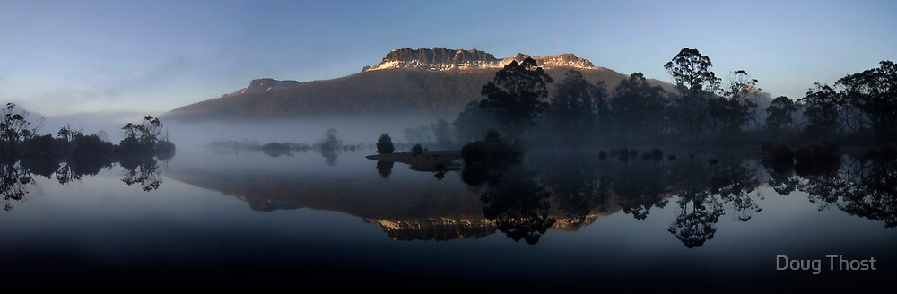 Morning Light, Mt Olumpus and Lake St Clair by Doug Thost