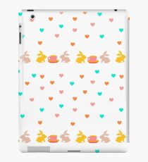 pattern with bunny, cup and hearts. Seamless background for kids. iPad Case/Skin