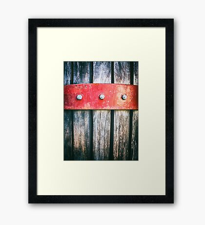 Barrel detail Framed Print