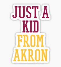 I'm Just a Kid from Akron Sticker