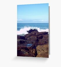 Rock Pools, Wye River Victoria Greeting Card