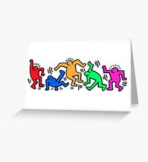 Keith Haring Dance Greeting Card