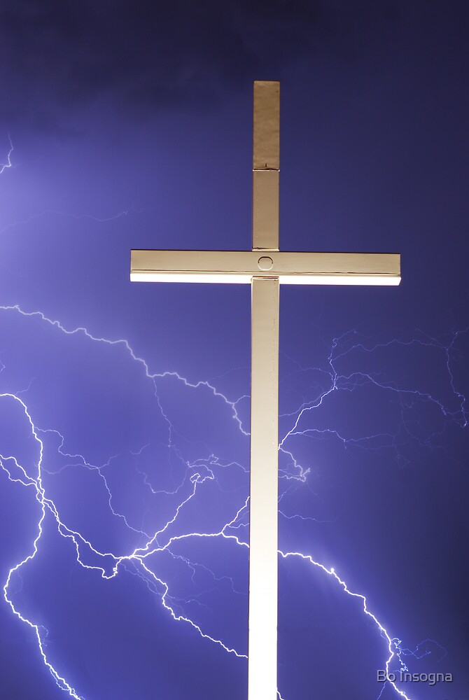 Lightning and the Cross verticle by Bo Insogna