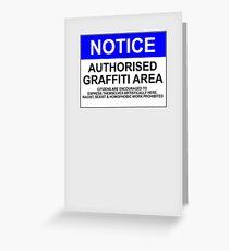 AUTHORISED GRAFFITI AREA Greeting Card