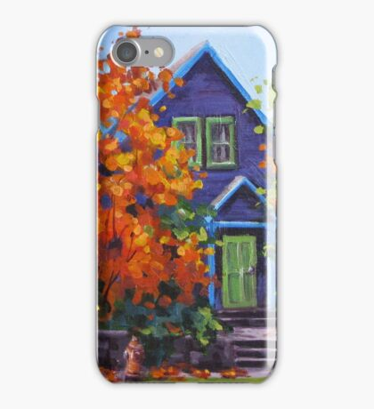 Fall in the Neighborhood iPhone Case/Skin