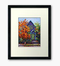 Fall in the Neighborhood Framed Print