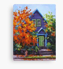 Fall in the Neighborhood Canvas Print