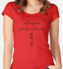 Rest In Peace John-Clock Women's Fitted Scoop T-Shirt