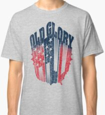 Old Glory Nation: Blue/Red Classic T-Shirt