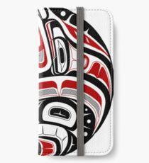 Nordwestliche Stammeskunst iPhone Flip-Case/Hülle/Skin