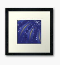 starry blue background Framed Print