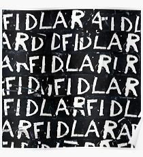 FIDLAR album black Poster