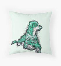 """""""Dexter"""" Black Dog Drawing Throw Pillow"""