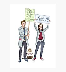 Fitzsimmons - Science March Photographic Print