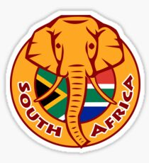 South Africa Elephant Head Flag Sticker