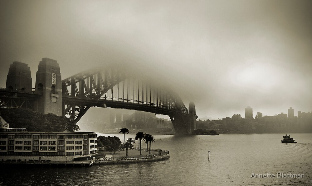 Bridge in Fog by Annette Blattman