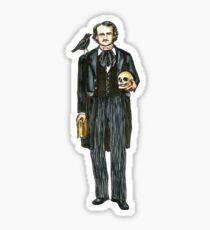 Edgar Allan Poe Portrait Sticker