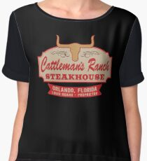 """""""Cattleman's Ranch Steakhouse"""" -  as seen on """"Fresh Off The Boat"""" Women's Chiffon Top"""