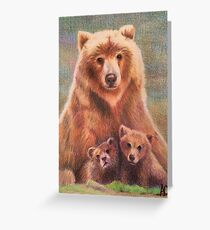 California Grizzly Bear Greeting Card