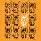 Owls hoot (B&W) by tambatoys
