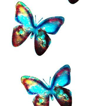 Mariposa espacial, mariposas, galaxia, universo, planeta, naturaleza de boom-art