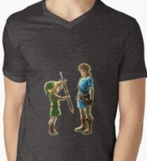 Old Link to New Link Mens V-Neck T-Shirt