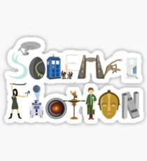 Science Fiction Typography Sticker